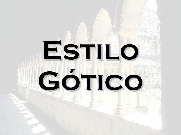 Estilo Gótico