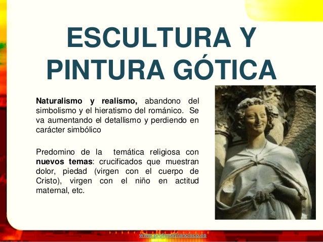 Gotico: escultura y pintura Slide 2
