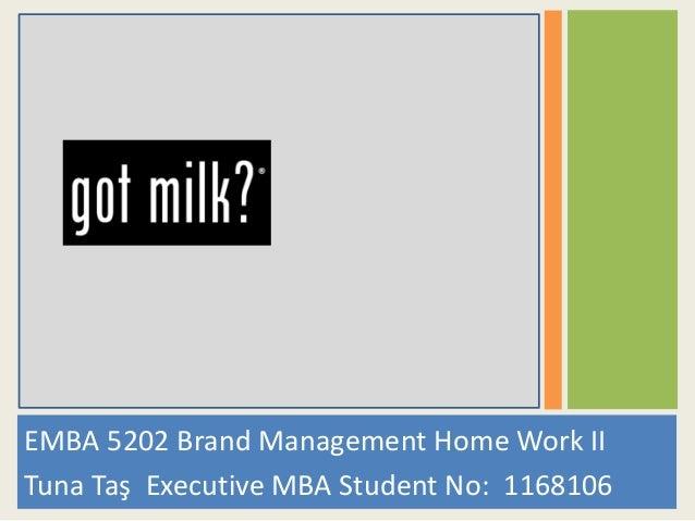 EMBA 5202 Brand Management Home Work II Tuna Taş Executive MBA Student No: 1168106