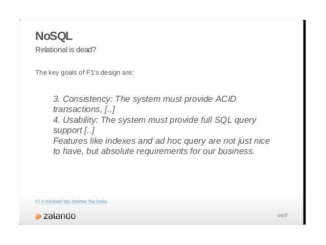 Document Column-Family Key-Value Graph Aggregate-Oriented Schemaless NoSQL – Comparison Aggregate oriented? Schemaless? Sc...
