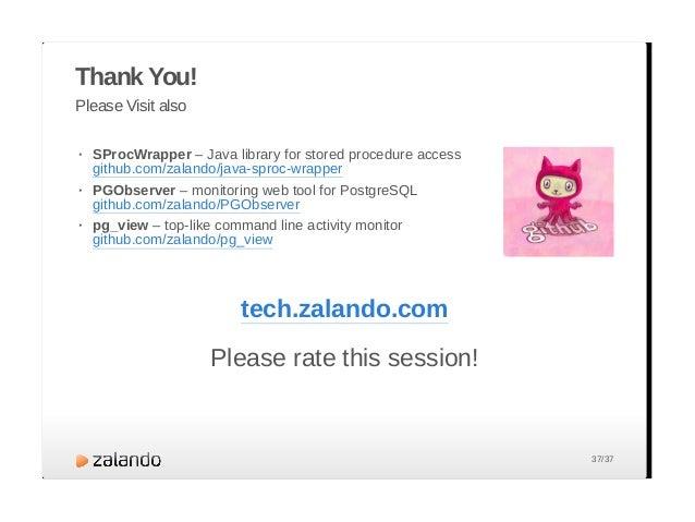 GOTO 2013: Why Zalando trusts in PostgreSQL