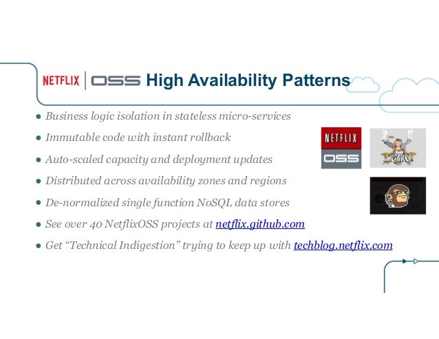 High Availability Patterns ● Business logic isolation in stateless micro-services ● Immutable code with instant rollback ●...