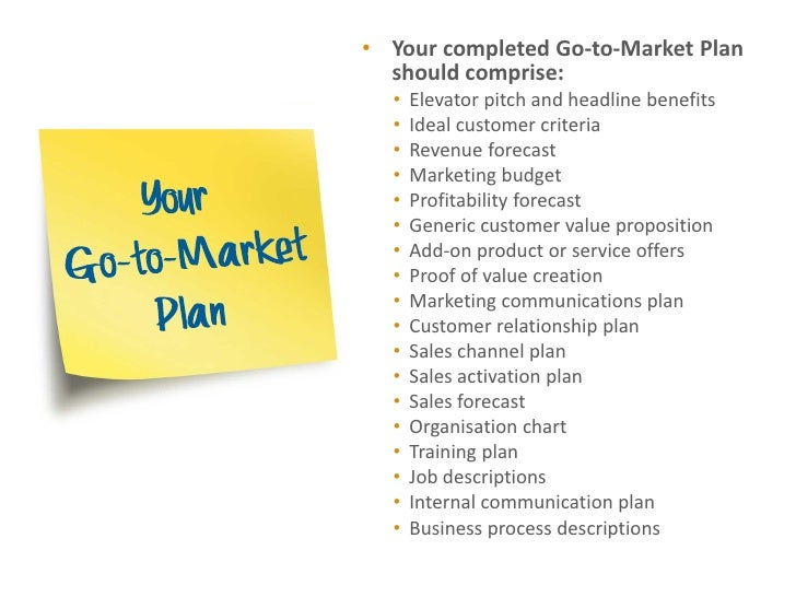 Go to market planning