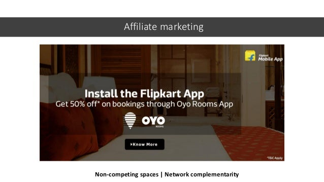 Affiliate marketing Non-competing spaces | Network complementarity