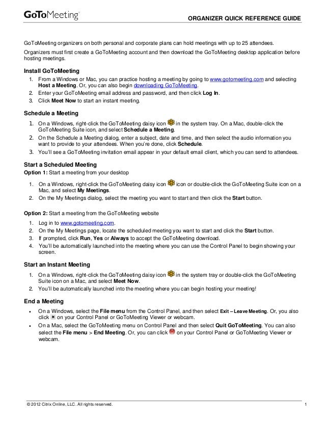 Go tomeeting organizer_quickref_guide