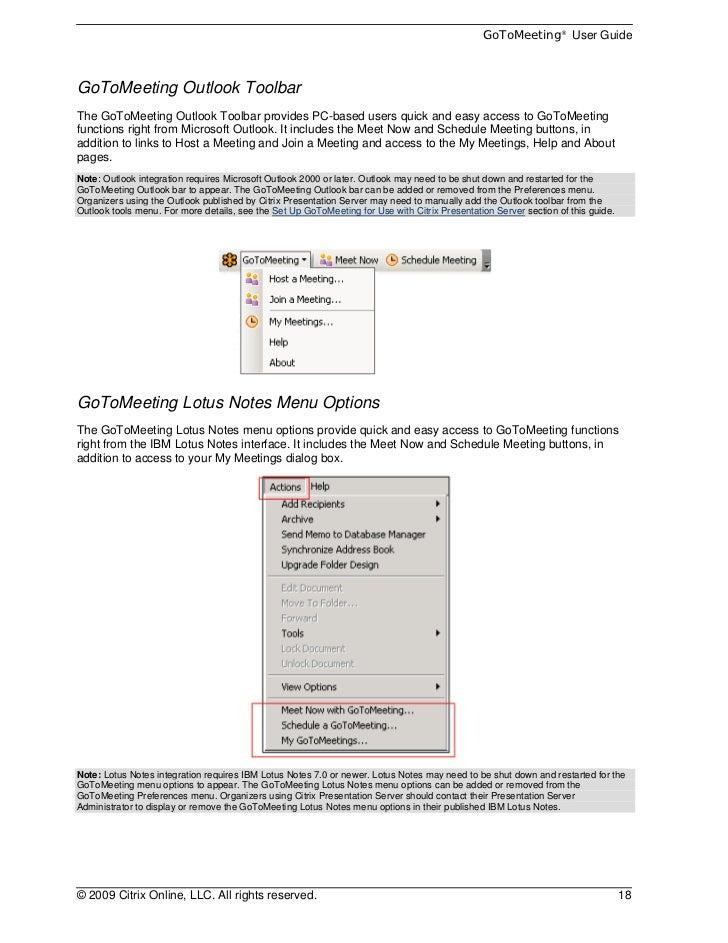 Citrix Online GoToMeeting User Guide v4 0