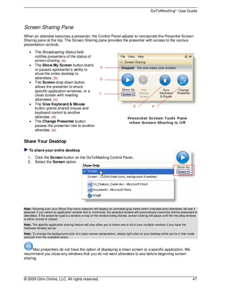 Citrix Online Gotomeeting User Guide V40
