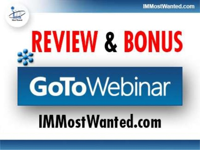 How GoToWebinar Can Help You With YourOnline BusinessAn online conference or webinar is of great use for your onlinemarket...