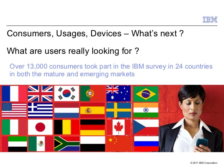 Consumers, Usages, Devices – What's next ?  What are users really looking for ?  Over 13,000 consumers took part in the IB...