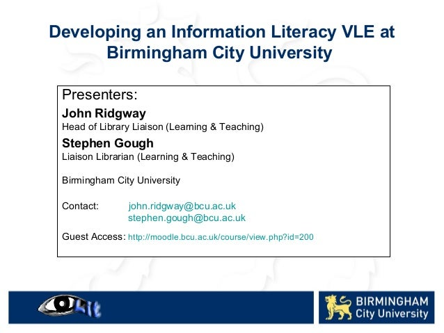 Presenters: John Ridgway Head of Library Liaison (Learning & Teaching) Stephen Gough Liaison Librarian (Learning & Teachin...