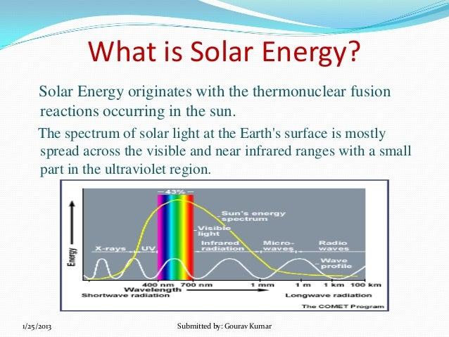 Write short note on solar energy