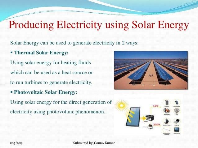 Solar panel technology ppt for Solar energy articles for kids