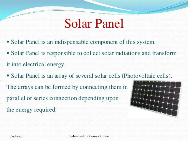 Solar panel technology ppt.