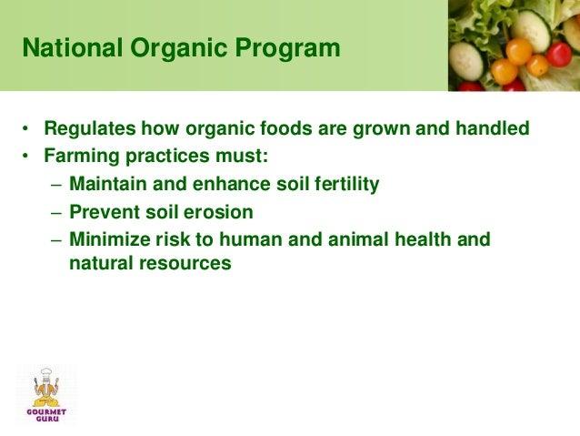 Are Organic Foods Regulated