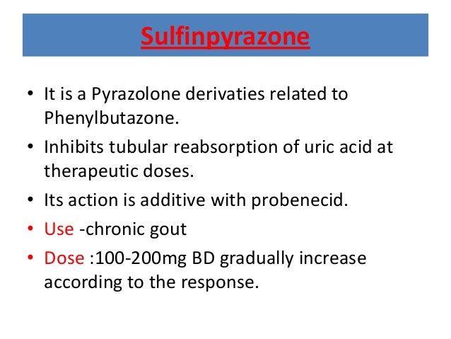 Probenecid Colchicine Combination Dose