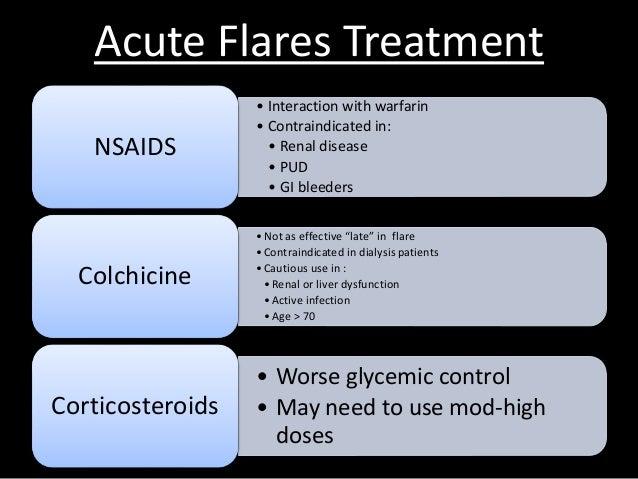 warfarin treatment gout on