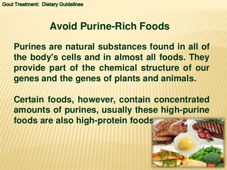 Low Purine Protein Foods