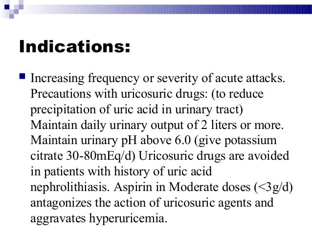 indications of allopurinol in gout