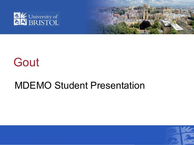 Gout MDEMO Student Presentation