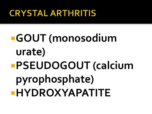 Gout and pseudogout