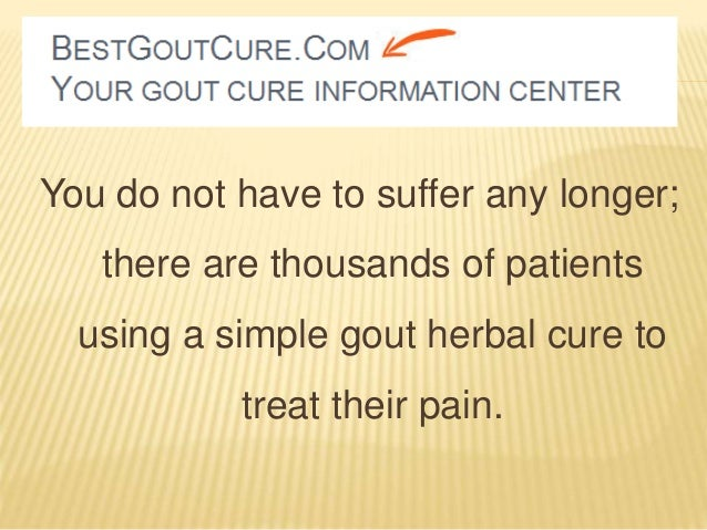 Cure Gout Naturally In  Hours