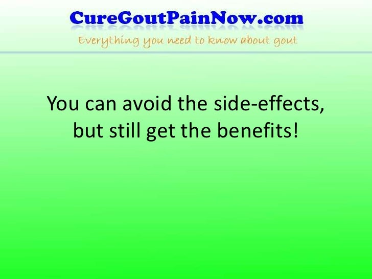 Gout Medication Side Effects