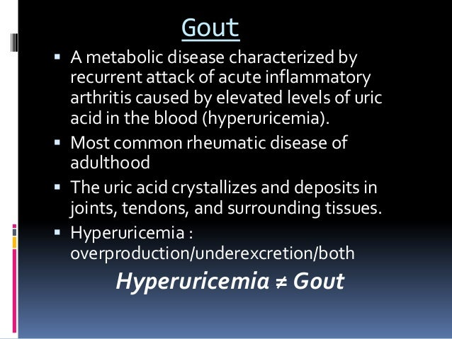 Gout presentation Slide 3