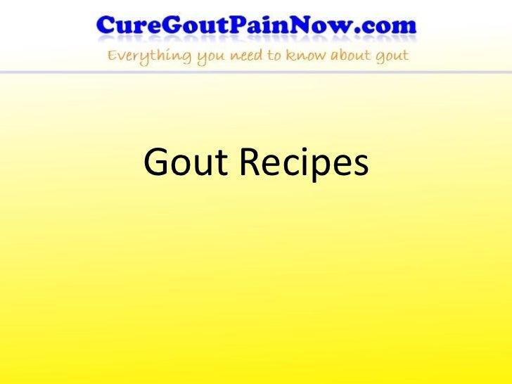 Gout Recipes