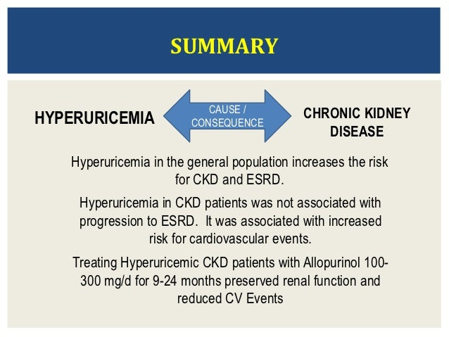 hyperuricemia in ckd