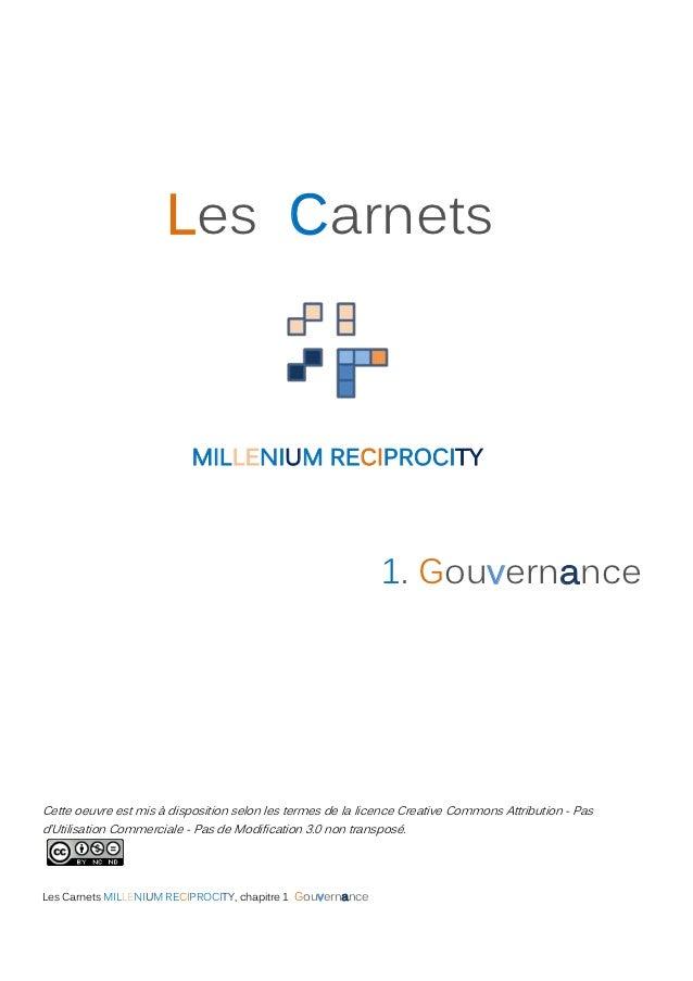 Les Carnets                           MILLENIUM RECIPROCITY                                                             1....