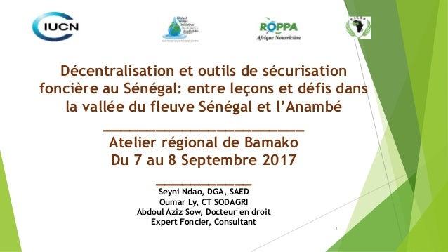 1 Décentralisation et outils de sécurisation foncière au Sénégal: entre leçons et défis dans la vallée du fleuve Sénégal e...