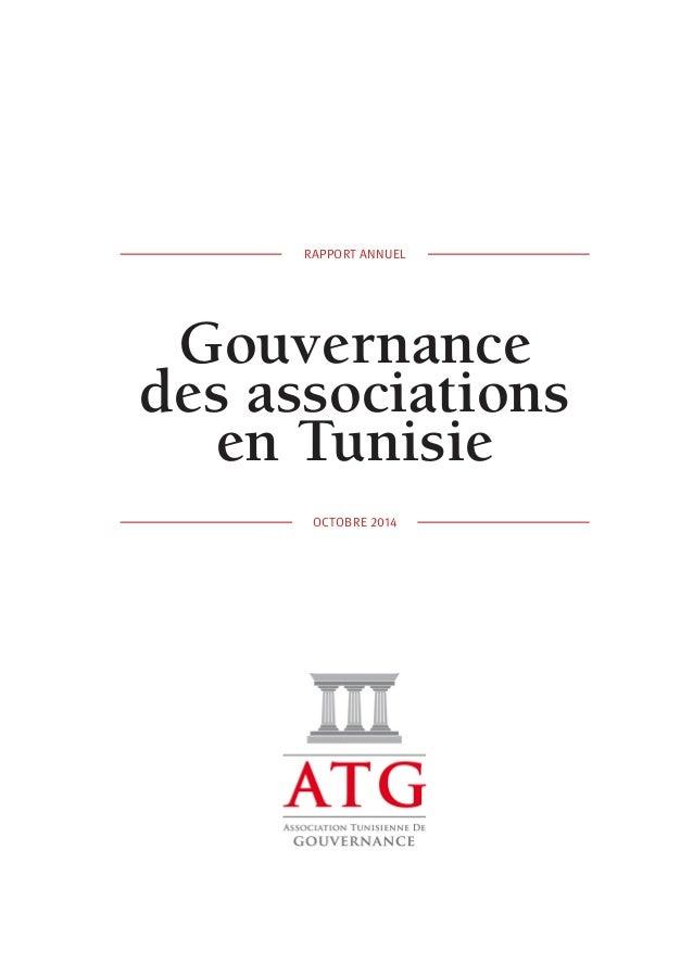 RAPPORT ANNUEL  Gouvernance  des associations  en Tunisie  OCTOBRE 2014