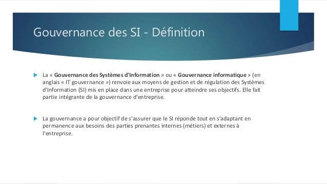 Gouvernance du syst me d 39 information et parties prenantes for Definition architecture informatique