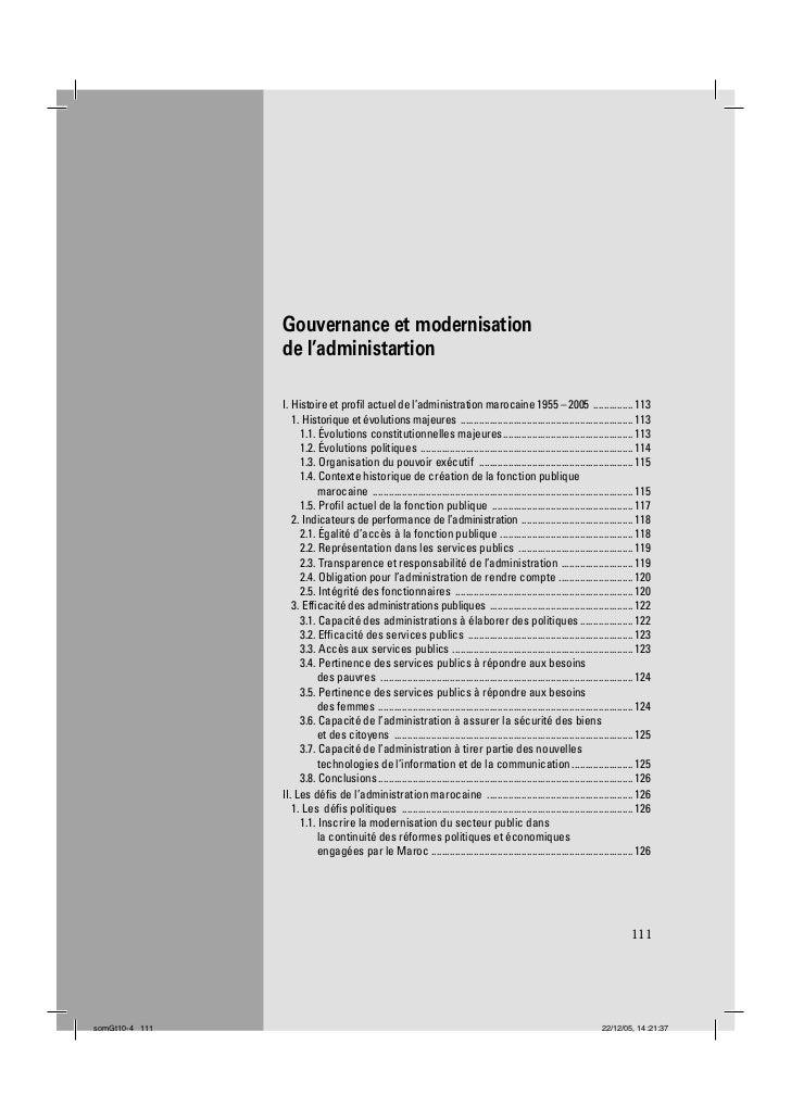 Gouvernance et modernisation                de l'administartion                I. Histoire et profil actuel de l'administra...