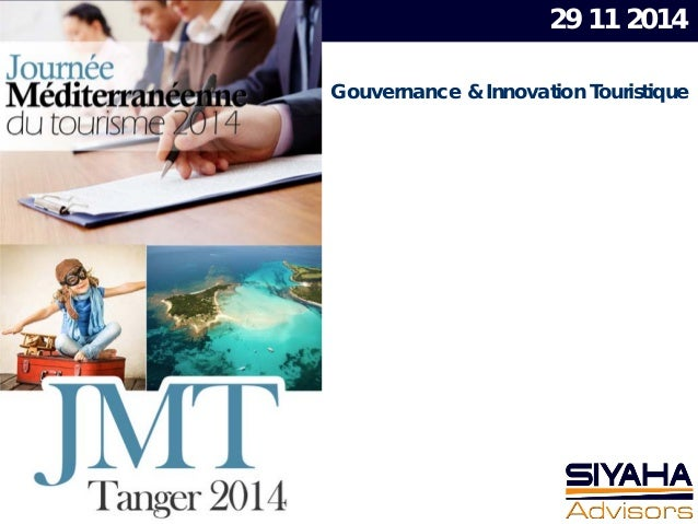 Gouvernance & Innovation Touristique 29 11 2014