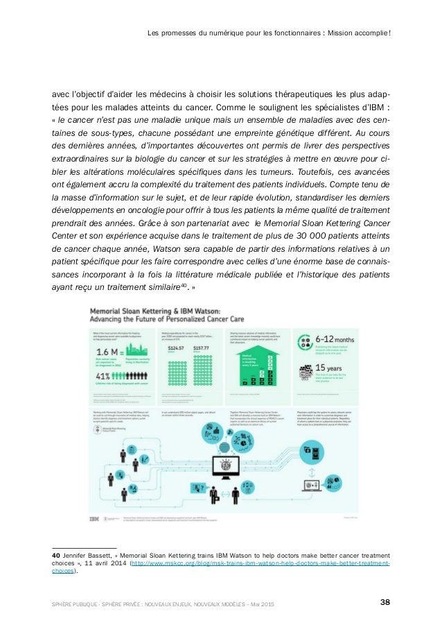 38SPHÈRE PUBLIQUE - SPHÈRE PRIVÉE : NOUVEAUX ENJEUX, NOUVEAUX MODÈLES – Mai 2015 Les promesses du numérique pour les fonct...