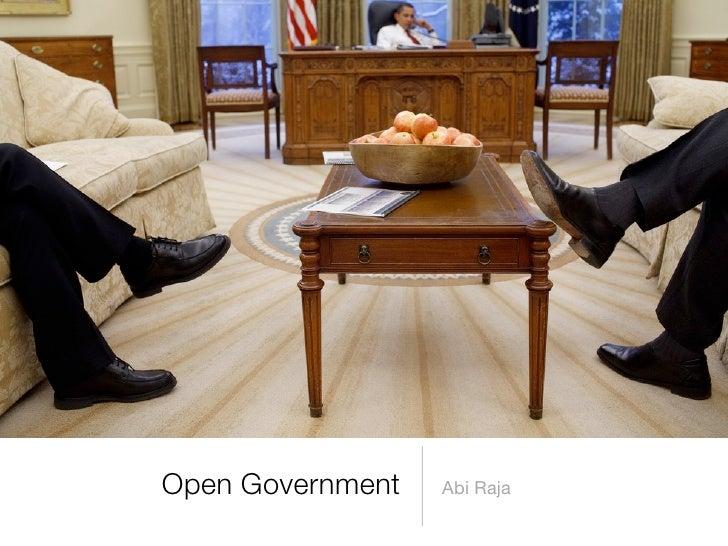 Open Government   Abi Raja
