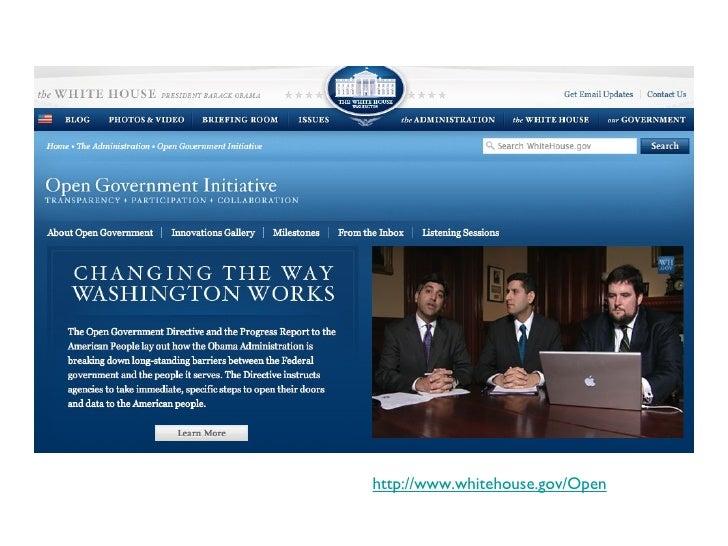 http://www.whitehouse.gov/Open