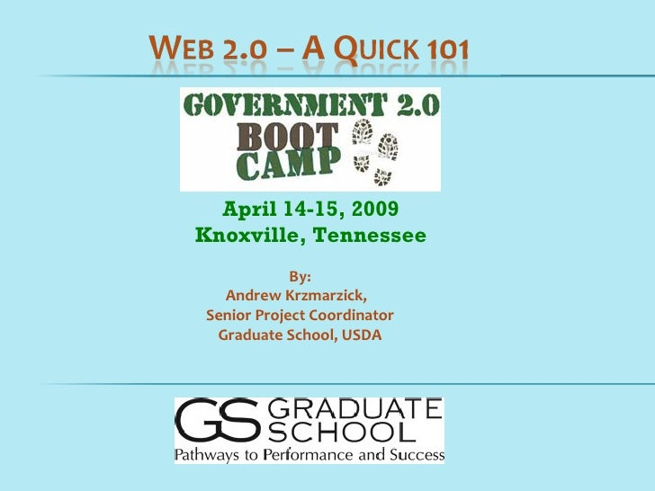 April 14-15, 2009 Knoxville, Tennessee             By:   Andrew Krzmarzick, Senior Project Coordinator  Graduate School, U...