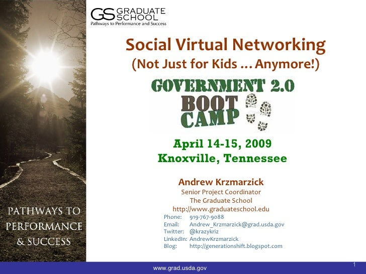 Social Virtual Networking (Not Just for Kids …Anymore!)           April 14-15, 2009     Knoxville, Tennessee            An...