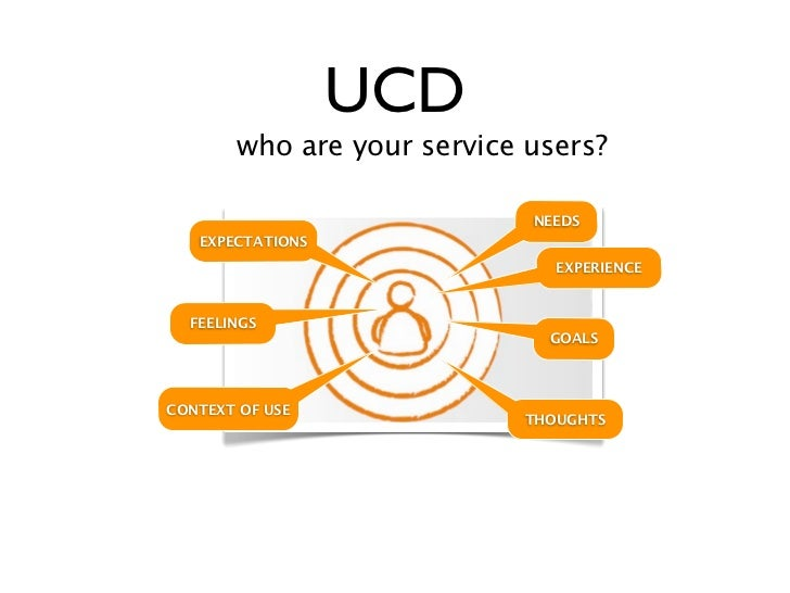 UCD       who are your service users?                            NEEDS   EXPECTATIONS                              EXPERIE...