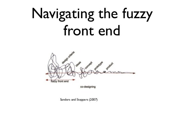 Navigating the fuzzy     front end    Sanders and Steppers (2007)