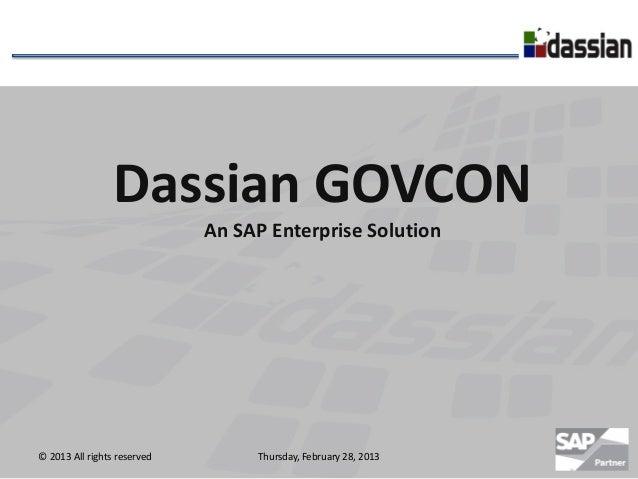 Dassian GOVCON Overview