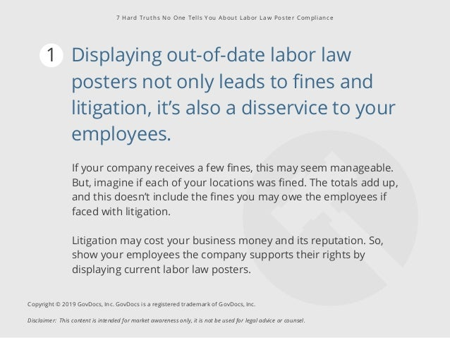 7 Hard Truths No One Tells You About Labor Law Poster Compliance Slide 2