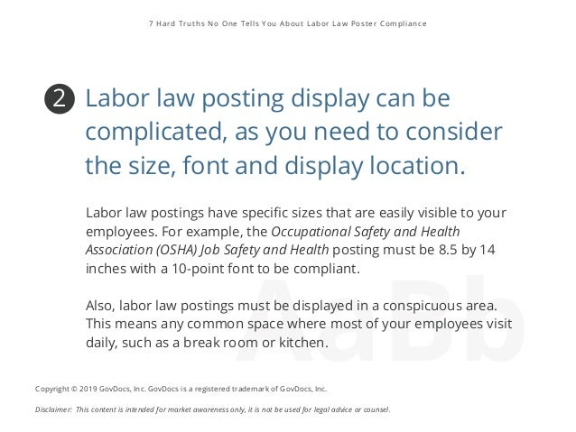 7 Hard Truths No One Tells You About Labor Law Poster Compliance Slide 3