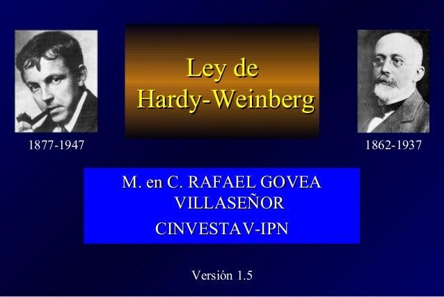Ley deLey de Hardy-WeinbergHardy-Weinberg M. en C. RAFAEL GOVEAM. en C. RAFAEL GOVEA VILLASEÑORVILLASEÑOR CINVESTAV-IPNCIN...
