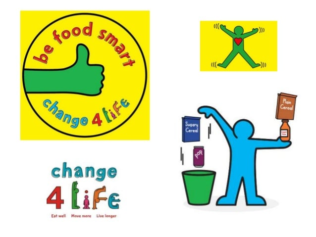 Logo  The main idea or message that they try to encourage is how we can make simple swaps/ changes to become healthier Slo...