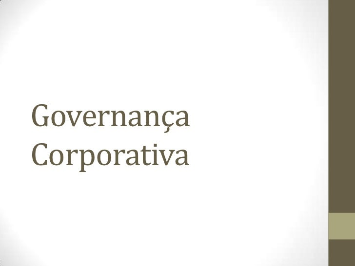 GovernançaCorporativa