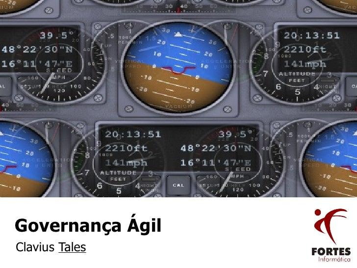 Governança Ágil Clavius  Tales