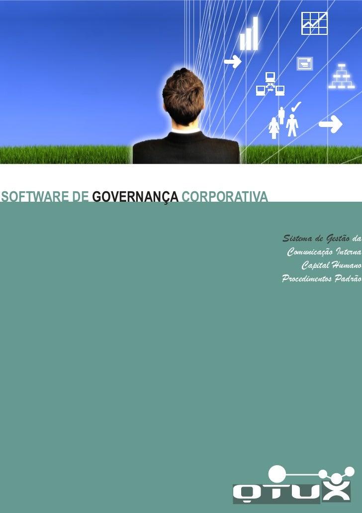 SOFTWARE DE GOVERNANÇA CORPORATIVA                                     Sistema de Gestão da                               ...